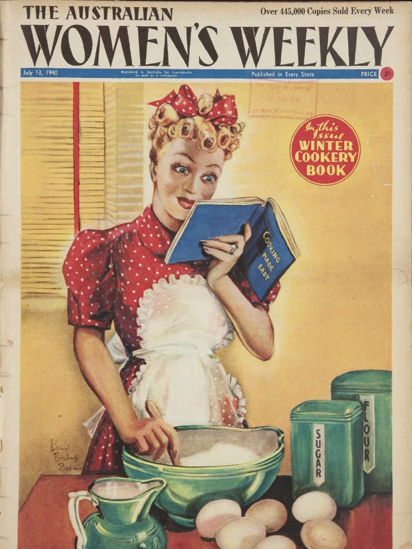 Australian Women's Weekly magazine cover from a July 1940 issue.