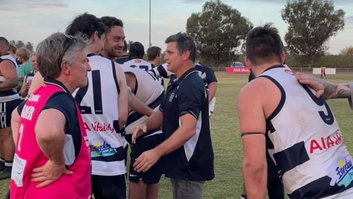 Hawthorn legend Shane Crawford leads country footy team to its first win in almost six years