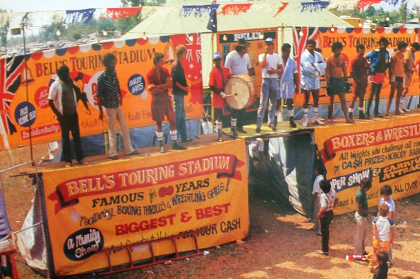 Bell's Boxing tent in the 1970s.