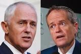Malcolm Turnbull and Bill Shorten composite