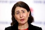 Gladys Berejiklian addresses the media