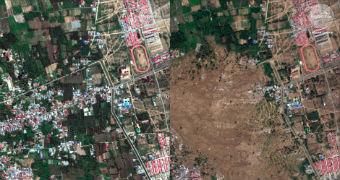 Before and after: Satellite images reveal horrific tsunami damage