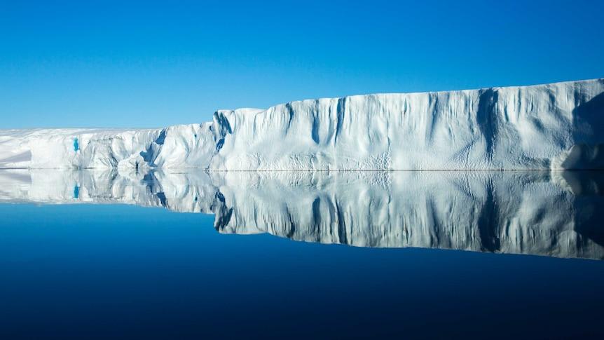 An ice shelf in Antarctica