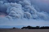 Smoke from the Dalyup Fire, one of three burning around Esperance.