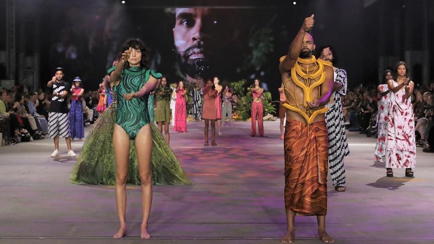 First Nations fashion designers make history at Australian Fashion Week – ABC News