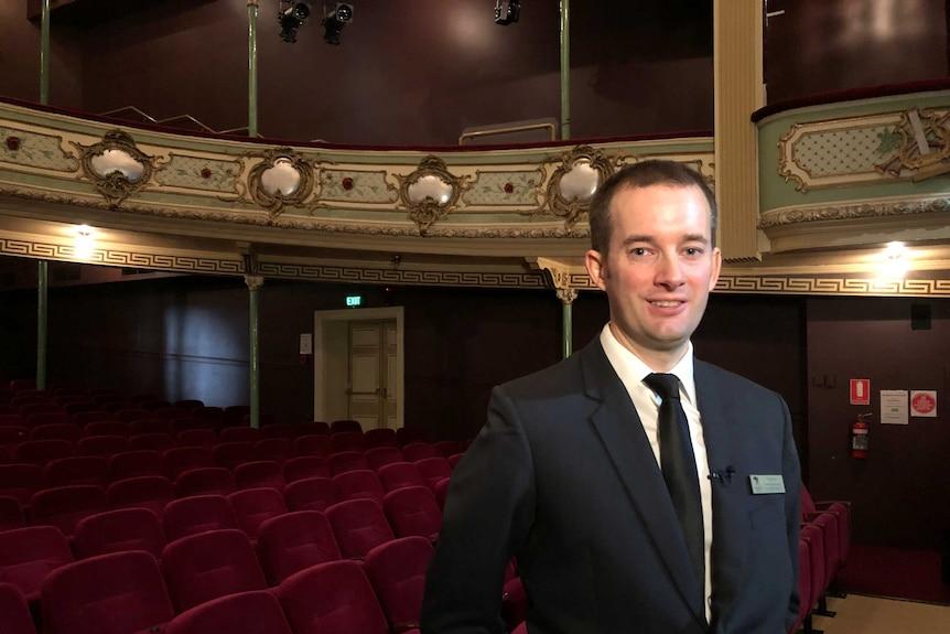 Tom Schoon in the Theatre Royal Hobart.