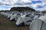 Some of the 200 tents at Stanley