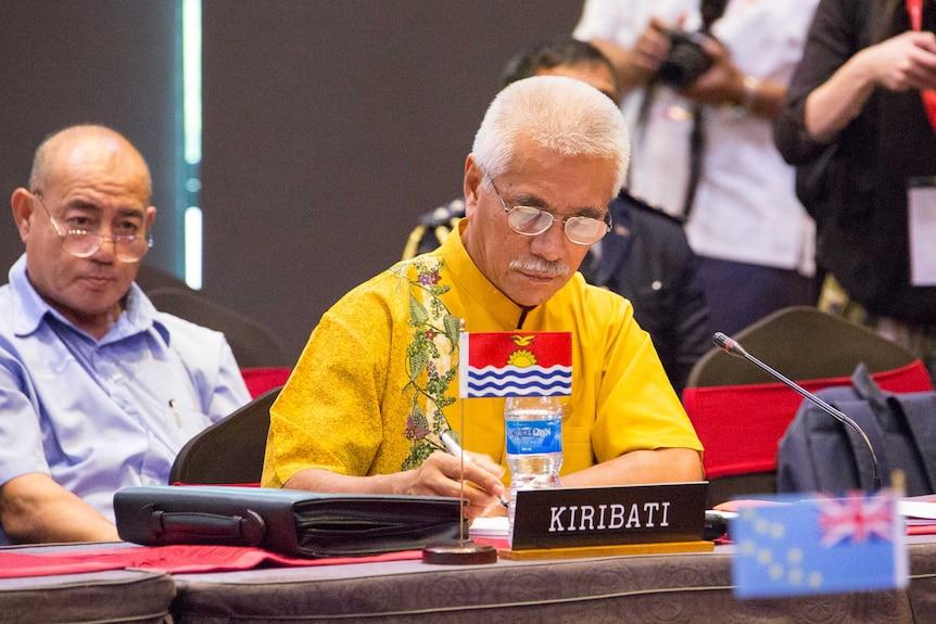 Former Kiribati president Anote Tong