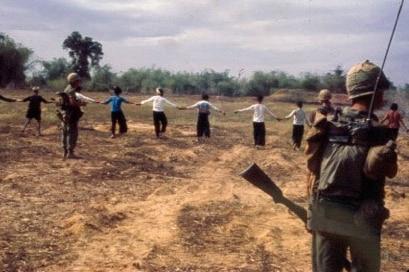 Vietnamese villagers used as human mine detectors