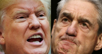 US President Donald Trump and special counsel Robert Mueller