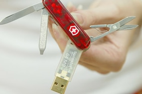 File photo: a Swiss Army knife that has a built in USB memory stick (Getty Images)