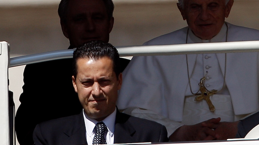 Paolo Gabriele (bottom L) has been charged over the leaking of secret Vatican documents.