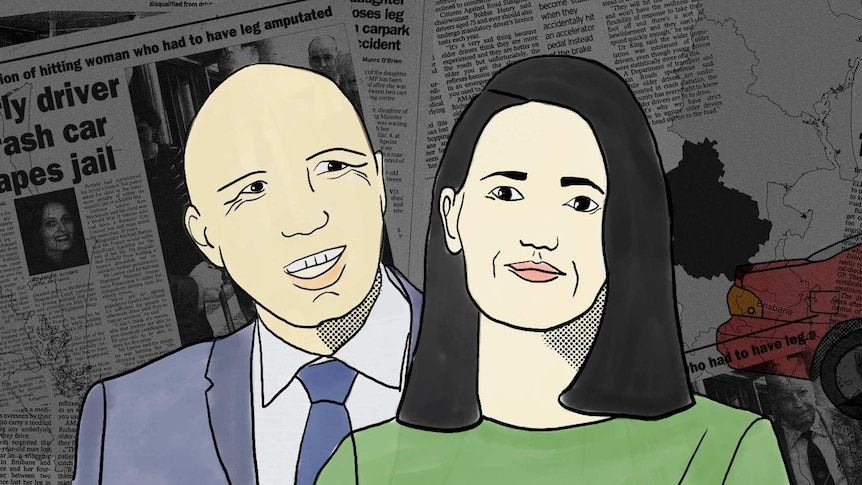 Illustration of Peter Dutton and Ali France