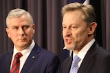 David Kalisch and Minister Michael McCormack