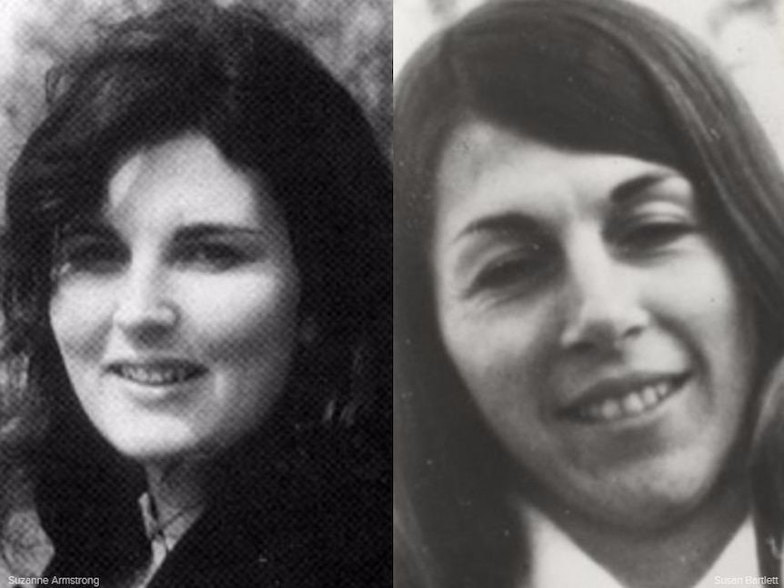 Suzanne Armstrong and Susan Bartlett were housemates in Collingwood in 1977.