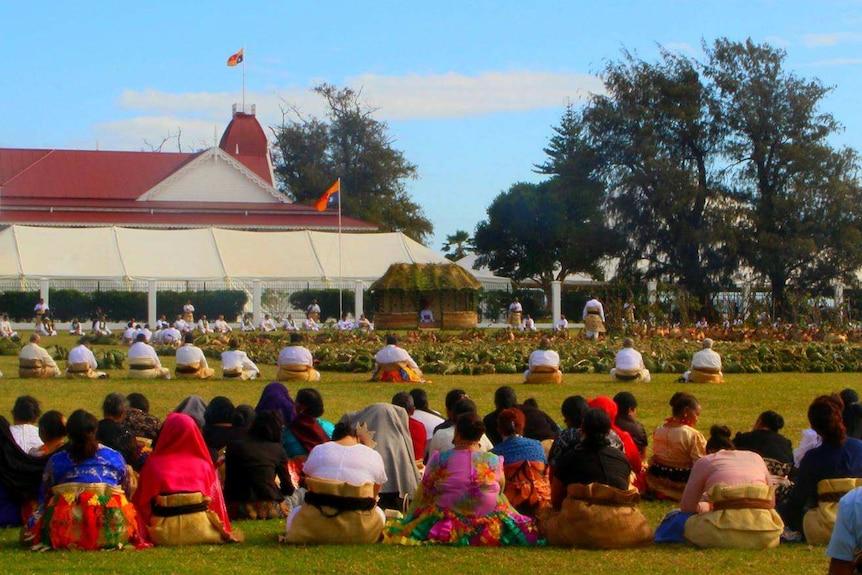 Tongan King Tupou VI coronation kava ceremony