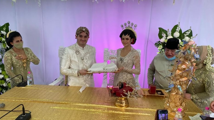 Muhammed Hafiz Tengku Adnan and Oceane Alagia wedding.
