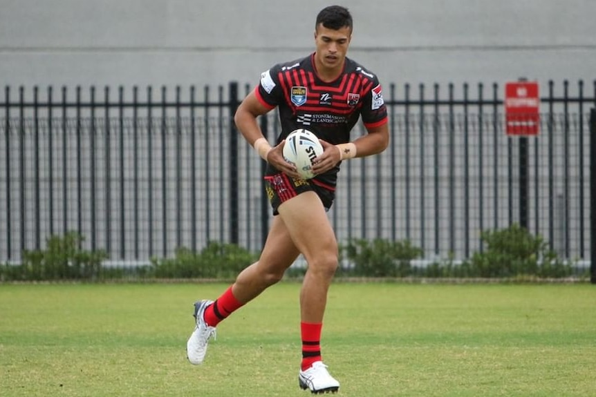 Joseph Suaalii playing for the North Sydney Bears in 2021.
