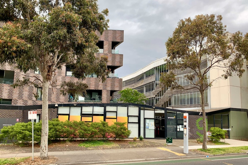 A photo of the exterior of a community housing block in Broadmeadows.