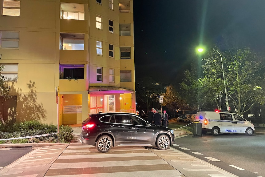 two cars on a street