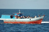This boat was intercepted near Cape Leveque by HMAS Larrakia