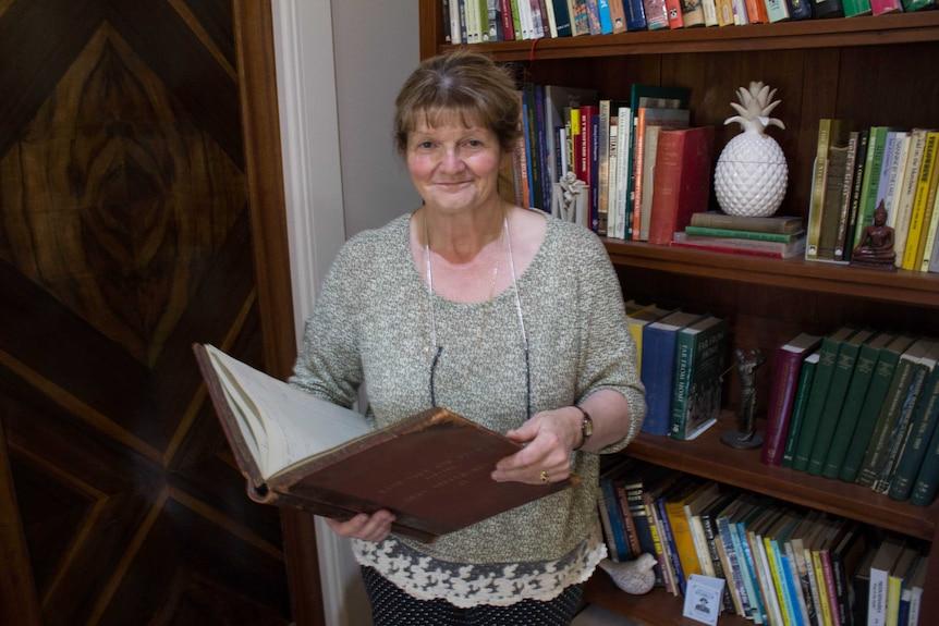 Historian Moya Sharp at her Kalgoorlie home
