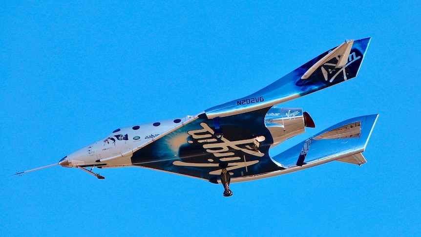 Virgin Galactic's VSS Unity reaches the lower altitudes of space