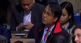 Filipino diplomat Yeb Sano on climate change