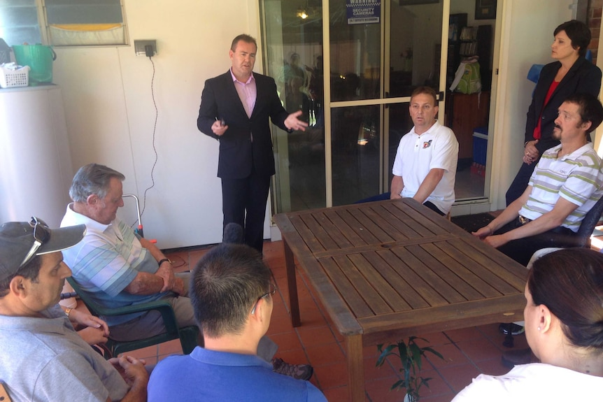 Home owners losing houses to WestConnex meet with a lawyer