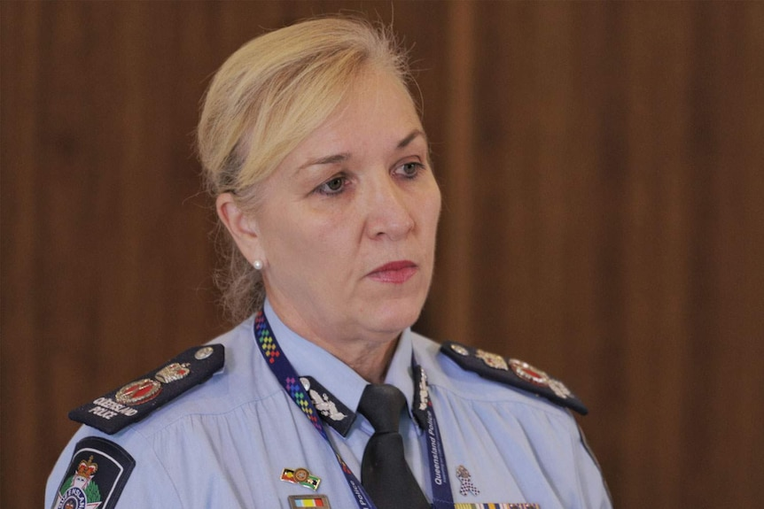 Headshot of Queensland Police Commissioner Katarina Carroll.