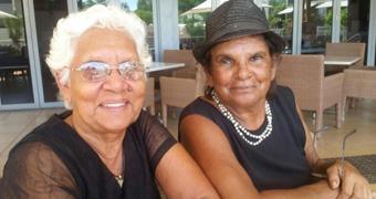 Aboriginal leaders Irene Davey and Merle Carter