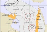 A track map for the expected tropical cyclone.