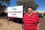 A man outside a Whyalla nursing home.