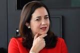 Queensland Premier Annastacia Palaszczuk looking pensive