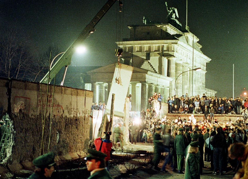 The Berlin Wall is dismantled