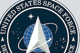 The logo of United States Space Force and the Starfleet Command logo