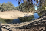 Bend in the Darling River holding on to a small amount of water.