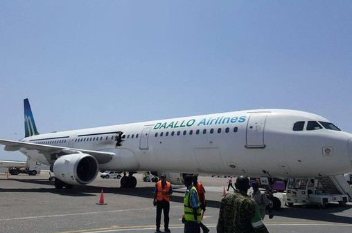 A hole in the side of Daallo Airline flight D3159.