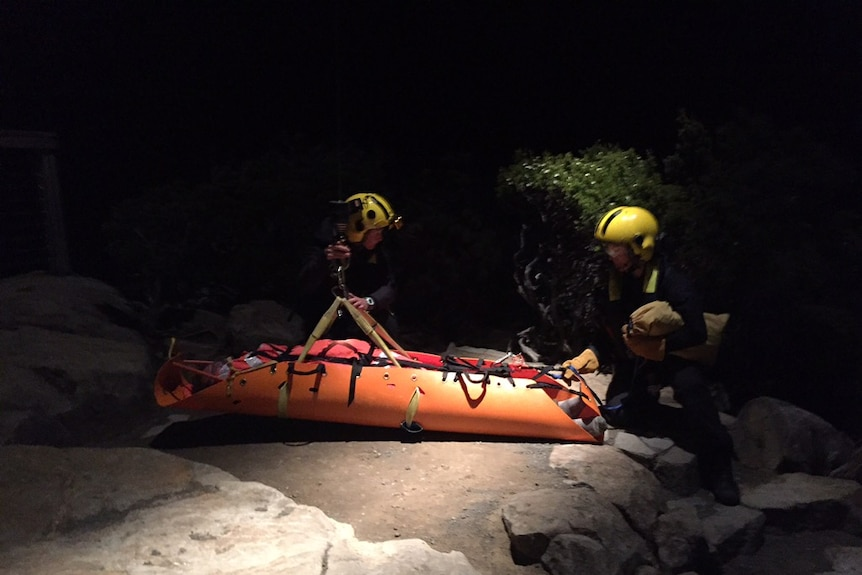 Helicopter rescue.