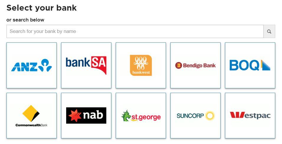 Cash Converters banking login page.