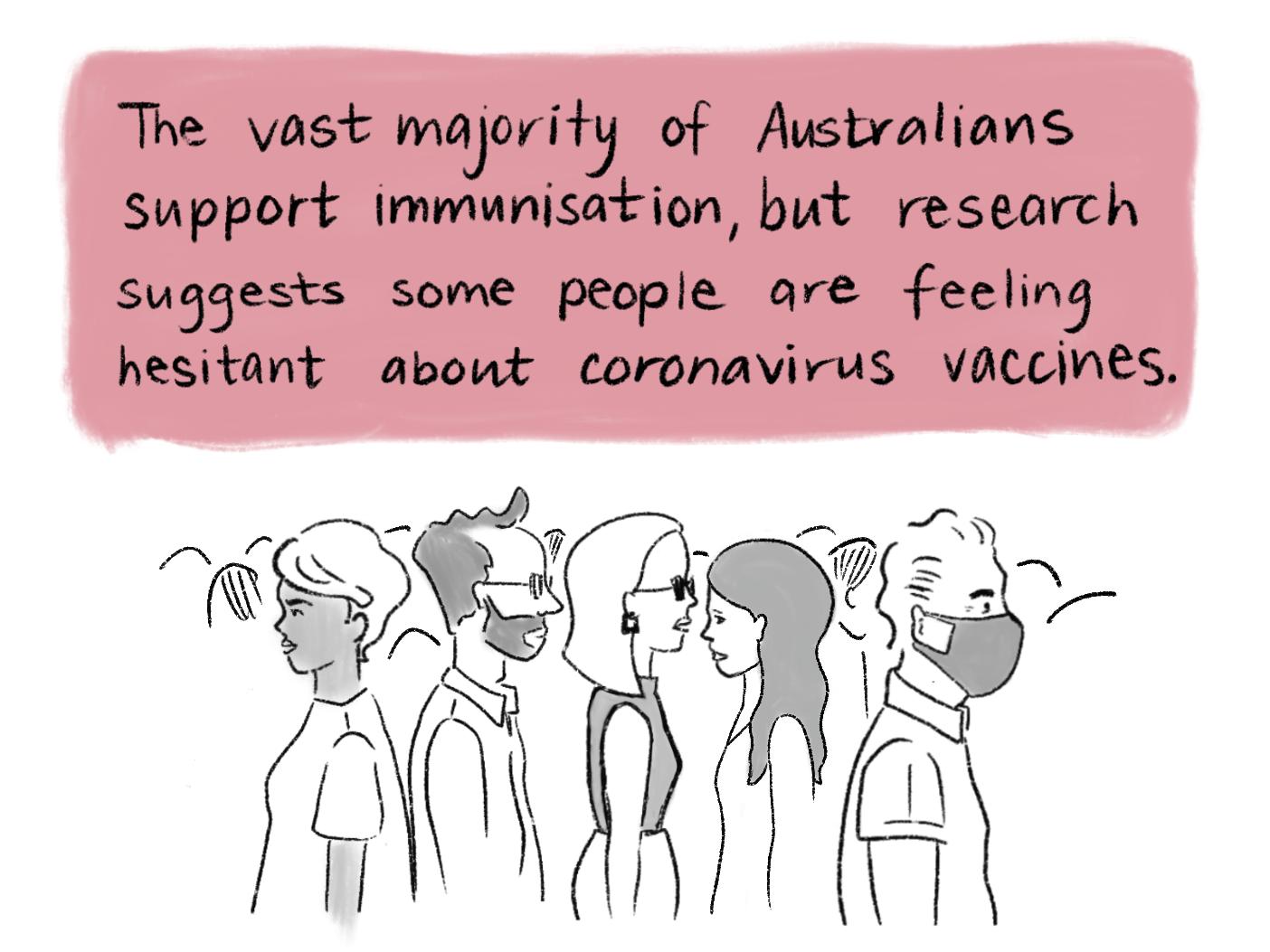 Vaccination comic scene 3. Read the transcript below.