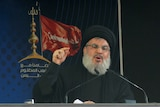 Sayyed Hassan Nasrallah addresses his supporters