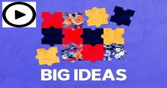 A colourful logo for RN's Big Ideas program