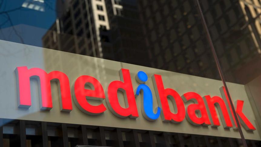 Sign on a Medibank building in Sydney on June 9, 2011.
