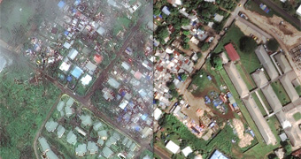 Cyclone Pam before and after