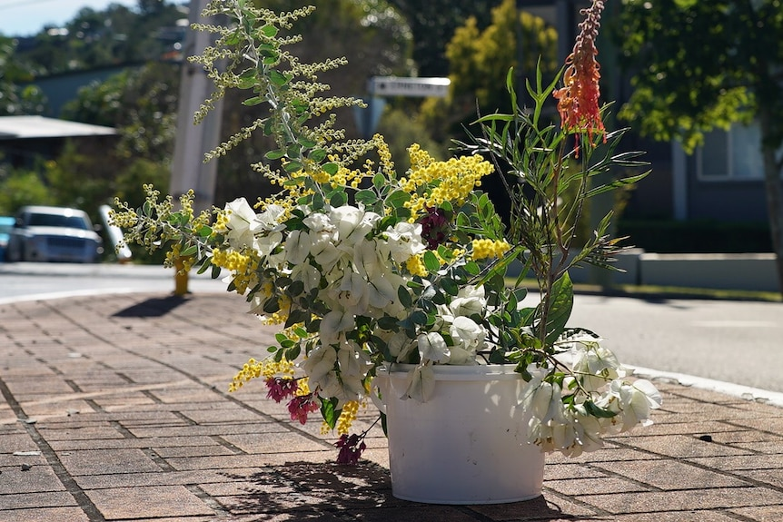 A bunch of flowers was left outsideKerry Rooney's home in Newmarket.