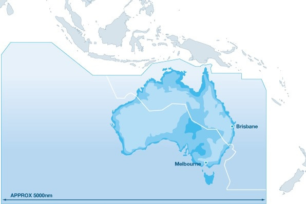 Map of Australia's airspace control