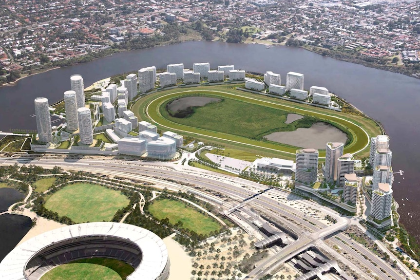 An artist's impression of the proposed Belmont Park development.