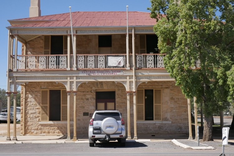 two story stone building of Central Darling Shire Council