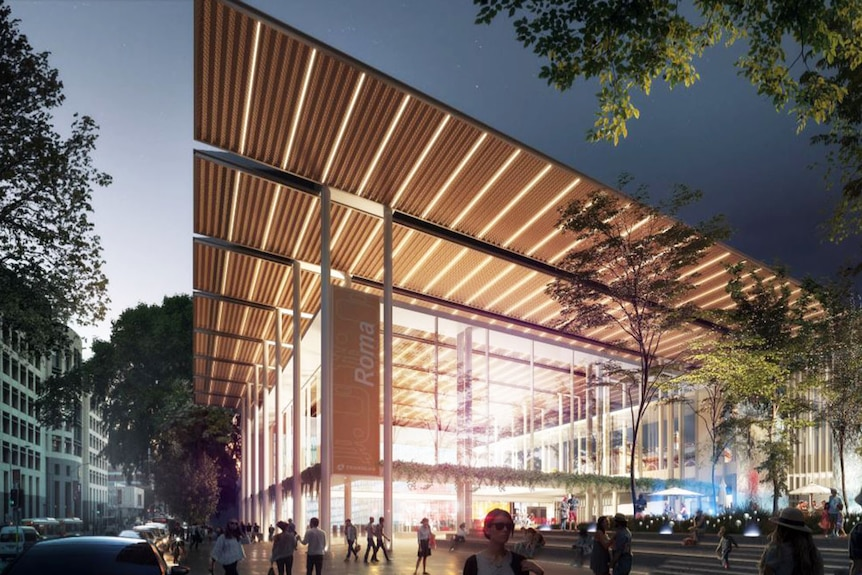 Concept drawing for new Cross River Rail station